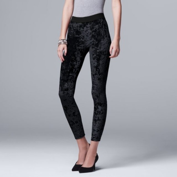 15fc044bb75e9 Simply Vera Vera Wang Pants | Velvet Vera Wang Leggings Black Large ...